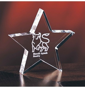 "CBY55 - 5"" Baby Star Crystal Star Award"