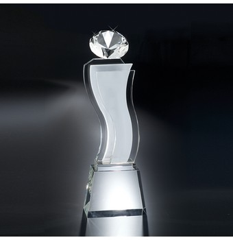 "CEA311 - 11 1/4"" Esmeralda Crystal Diamond Award"