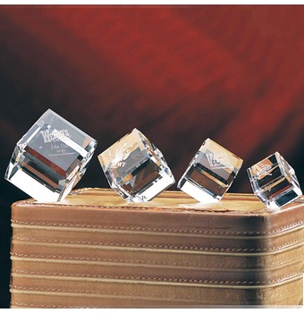 "CMB24 - 2 3/8"" Crystal Beveled Cube"