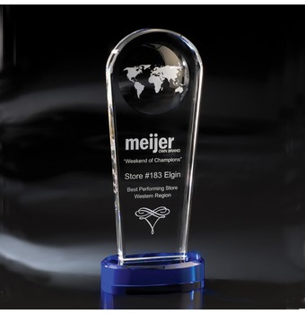 "FAP411 - 11"" Atmosphere Globe Crystal Award"