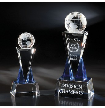 "FDT309 - 9"" Destino Crystal Globe Award"