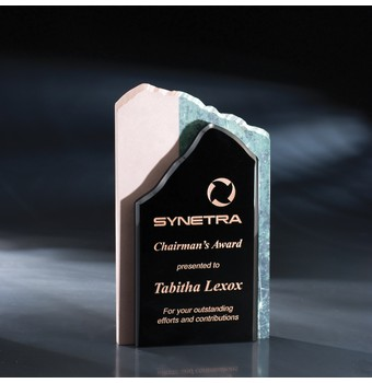 "HHTM509 - 9 1/2"" High Touch Modern Crystal & Stone Award"