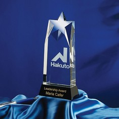 "9"" Allure Crystal Star Award"