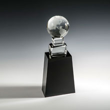 "11"" Globe on Black Base Award"