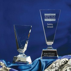 "11"" Cleo Crystal Award"