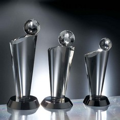 "10"" Equator Crystal Globe Award"
