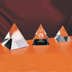 "3 1/4"" Pyramid Crystal Award"