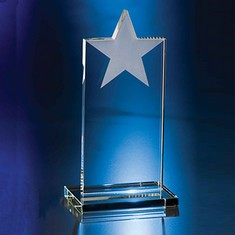 "8 1/2"" Shining Star Crystal Star Award"