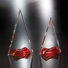 "10"" Soiree Crystal Triangle Award"