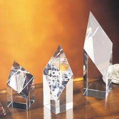 "4"" Deco Crystal Award"