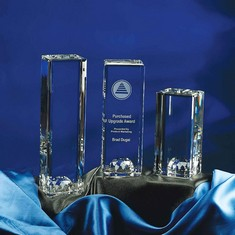 "10"" World Tower Crystal Award"
