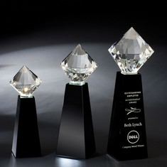 "11"" Brilliant Crystal Diamond Award"