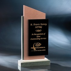 """11 1/2"""" Tip Top Recognition Crystal & Stone Award"""