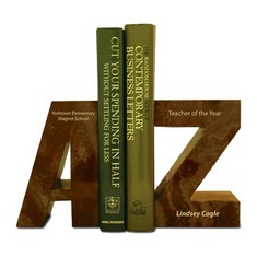 A to Z Bookends - Amber