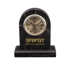Large Tomb clock w/Base - Black Zebra