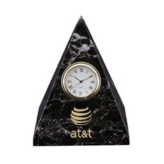 Pyramid Clock - Black Zebra