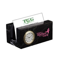 Business card Mini Clock - Black Zebra