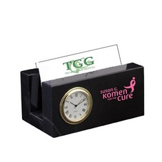 Business Card Mini Clock - Jet Black