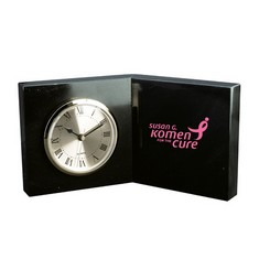 Open Book Clock - Jet Black