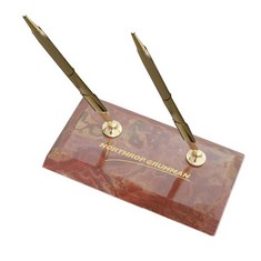 Double Pen stand - Amber
