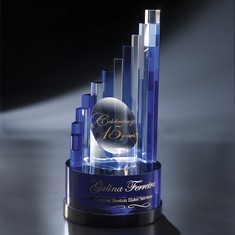 "12 1/4"" Aerial Crystal Award"