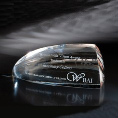 "4 1/8"" Glacies Crystal Award"