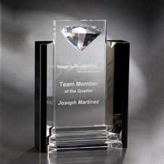 "12"" Marquis Crystal Diamond Award"