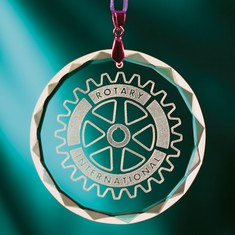 Round Crystal Ornament
