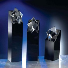 "11"" Diamond in the Rough Crystal Award"
