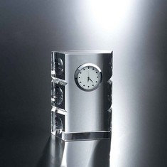 "4 1/4"" Lost In Space Crystal Clock"