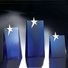 "10"" Performer Blue Crystal Star Award"