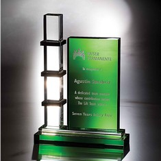 "10"" Escalator Crystal Award"